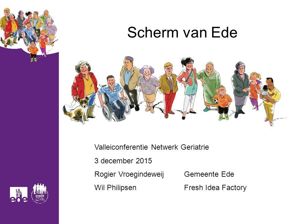 Scherm van Ede Valleiconferentie Netwerk Geriatrie 3 december 2015