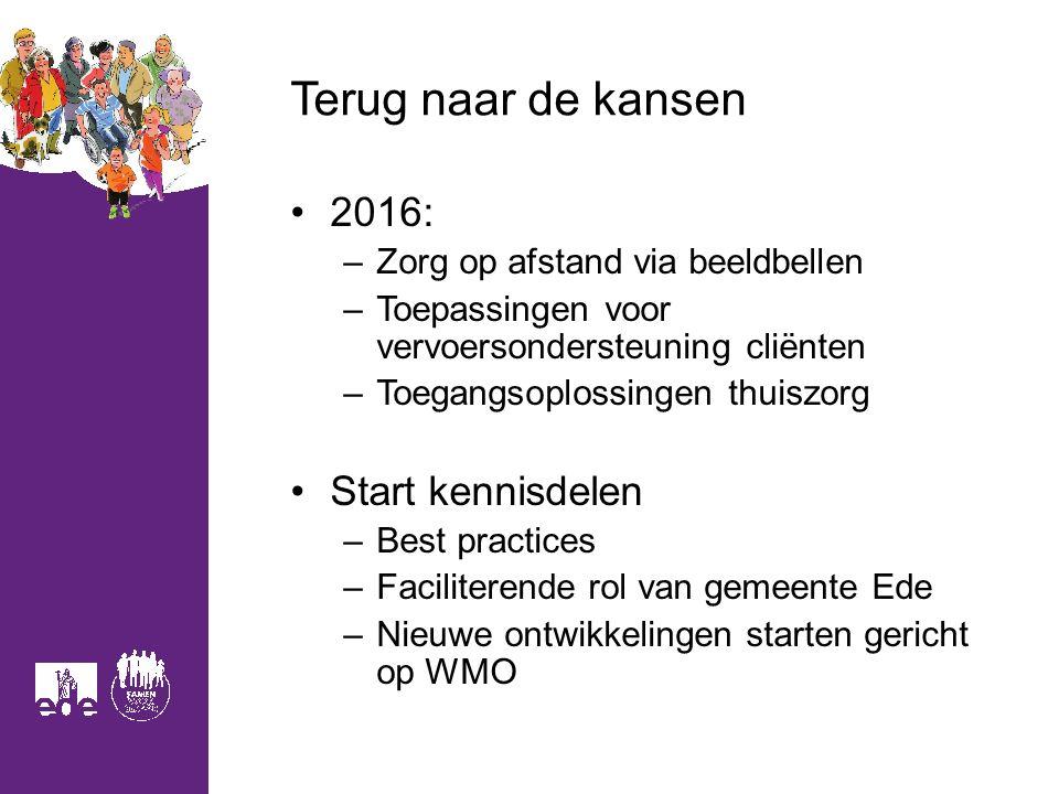 Terug naar de kansen 2016: Start kennisdelen
