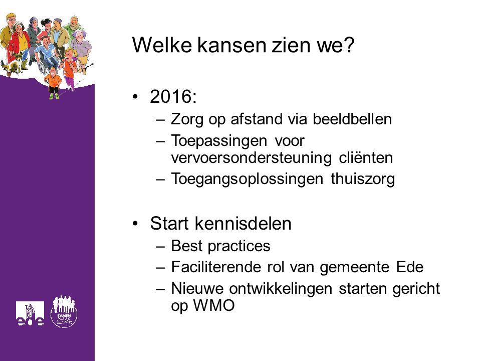 Welke kansen zien we 2016: Start kennisdelen