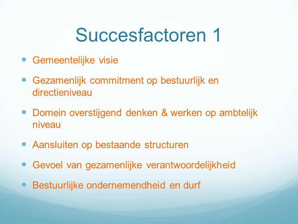 Succesfactoren 1 Gemeentelijke visie