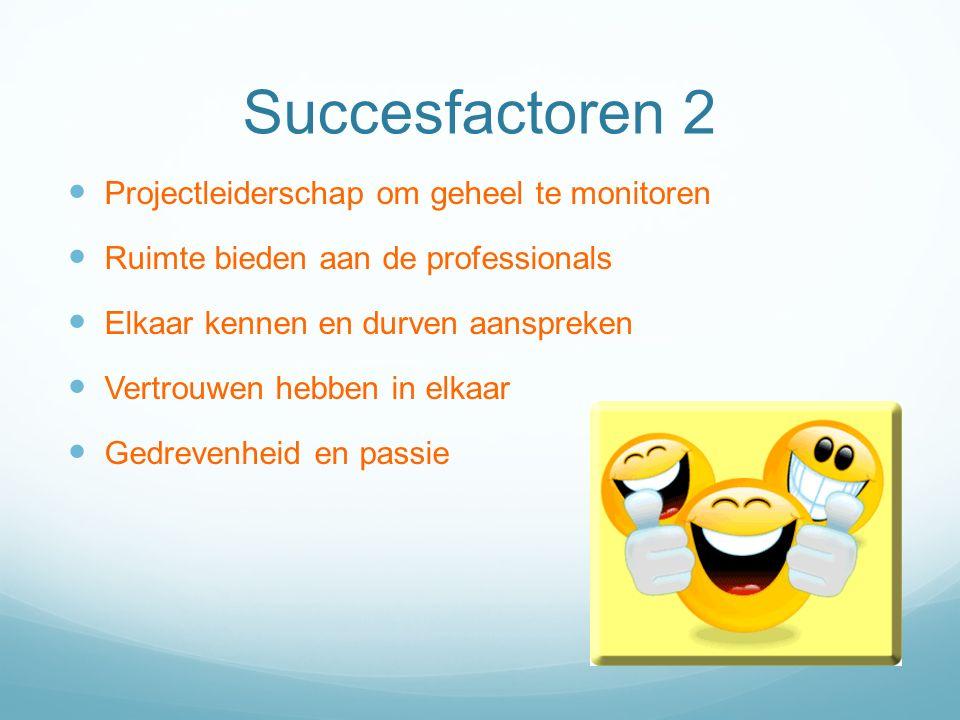 Succesfactoren 2 Projectleiderschap om geheel te monitoren