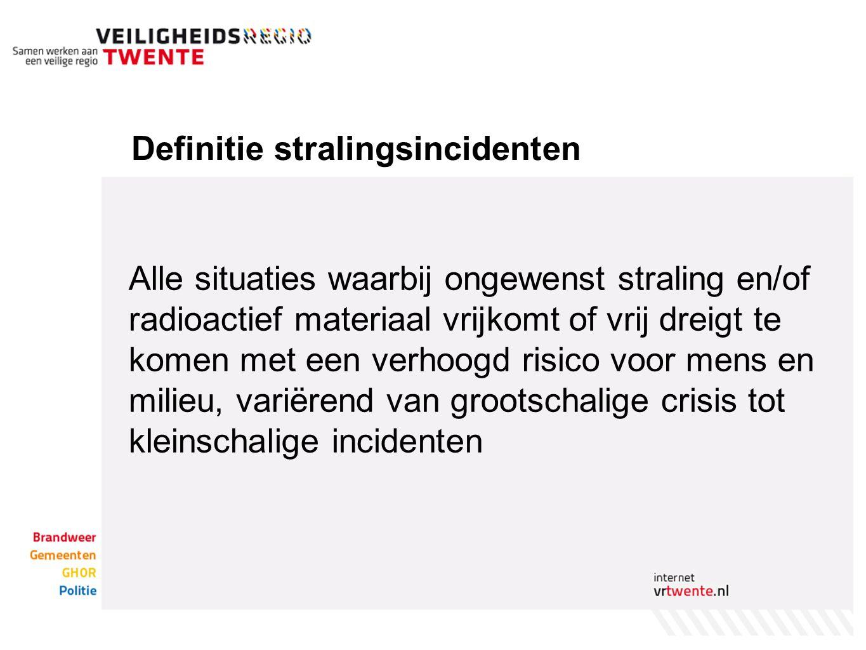 Definitie stralingsincidenten