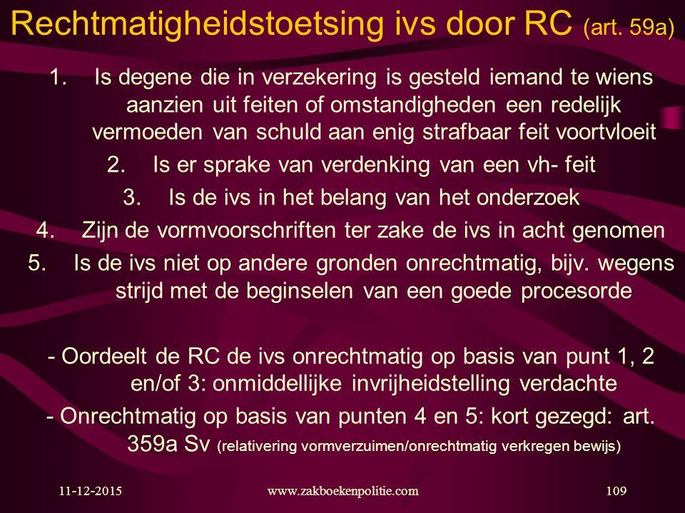 Rechtmatigheidstoetsing ivs door RC (art. 59a)