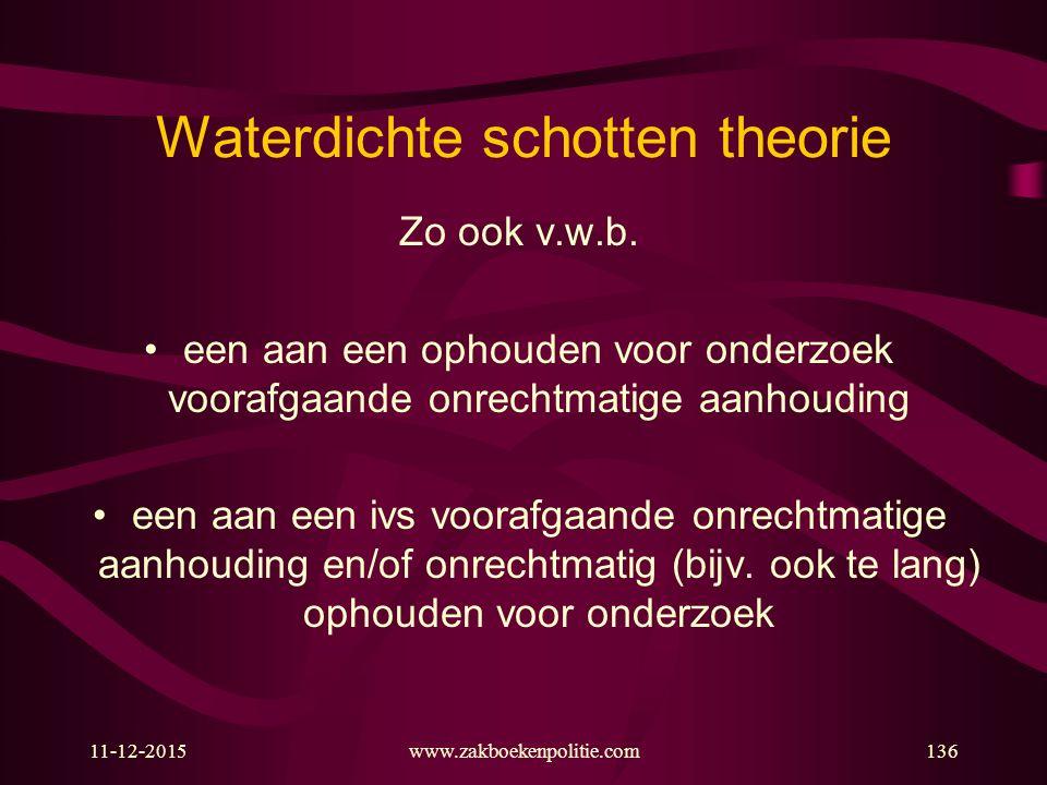 Waterdichte schotten theorie