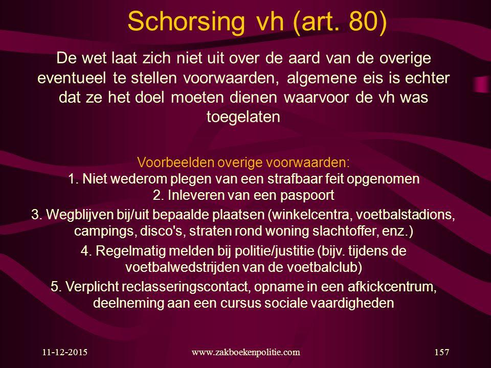 Schorsing vh (art. 80)