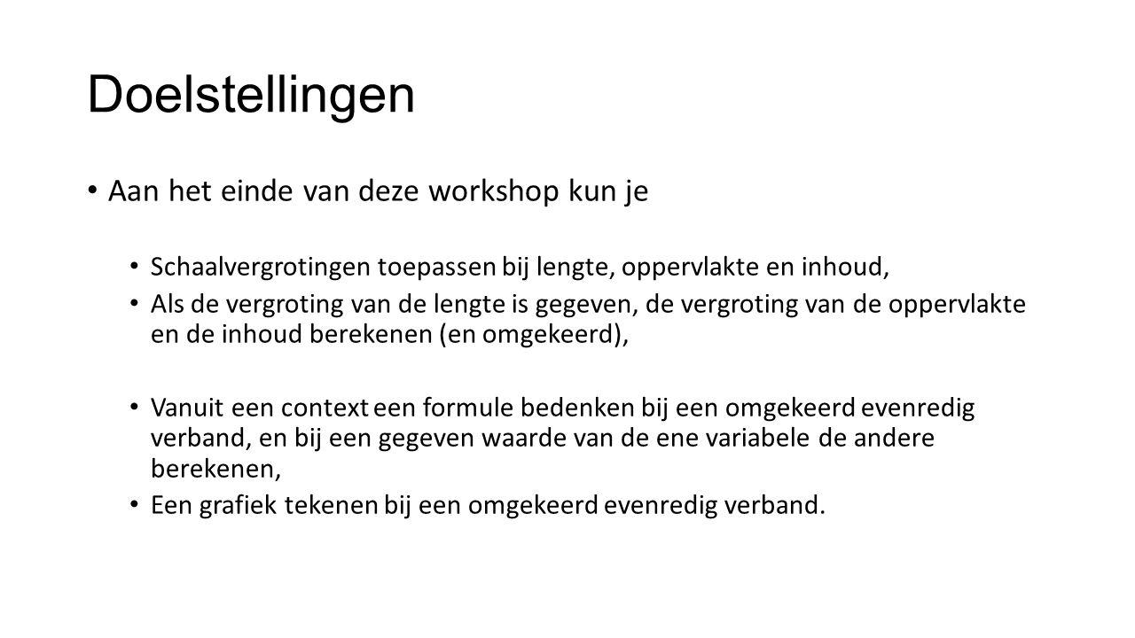 Doelstellingen Aan het einde van deze workshop kun je