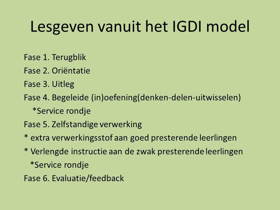 Lesgeven vanuit het IGDI model
