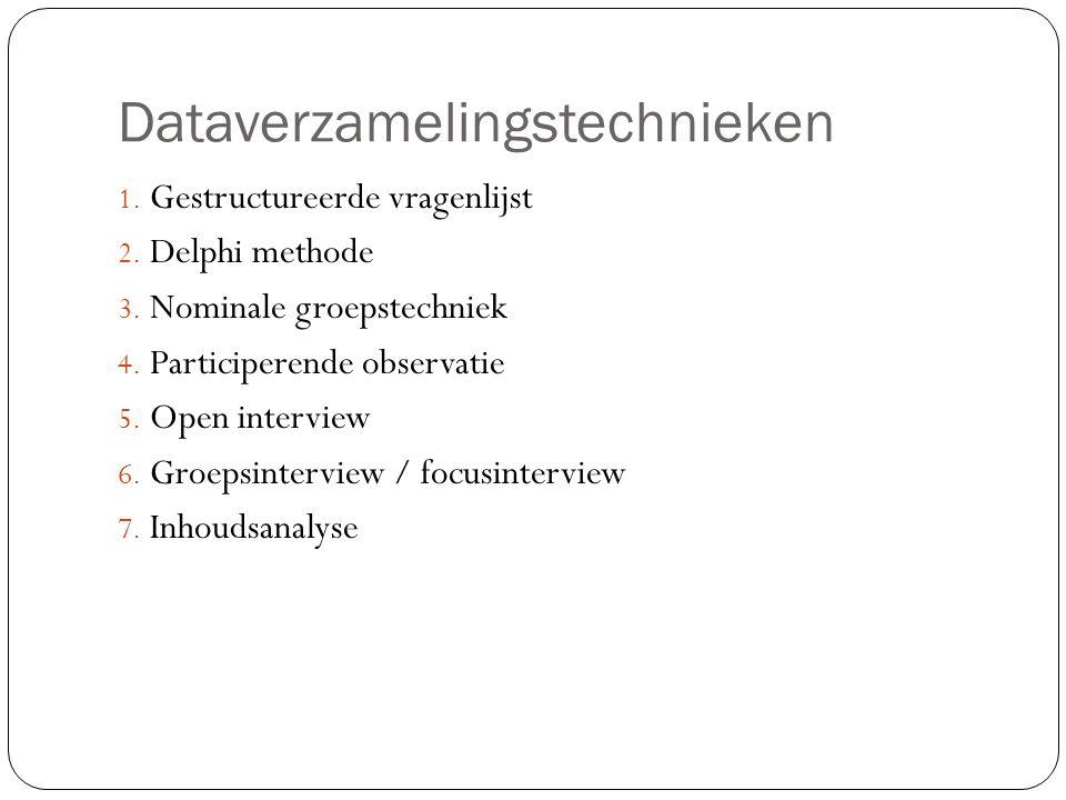 Dataverzamelingstechnieken