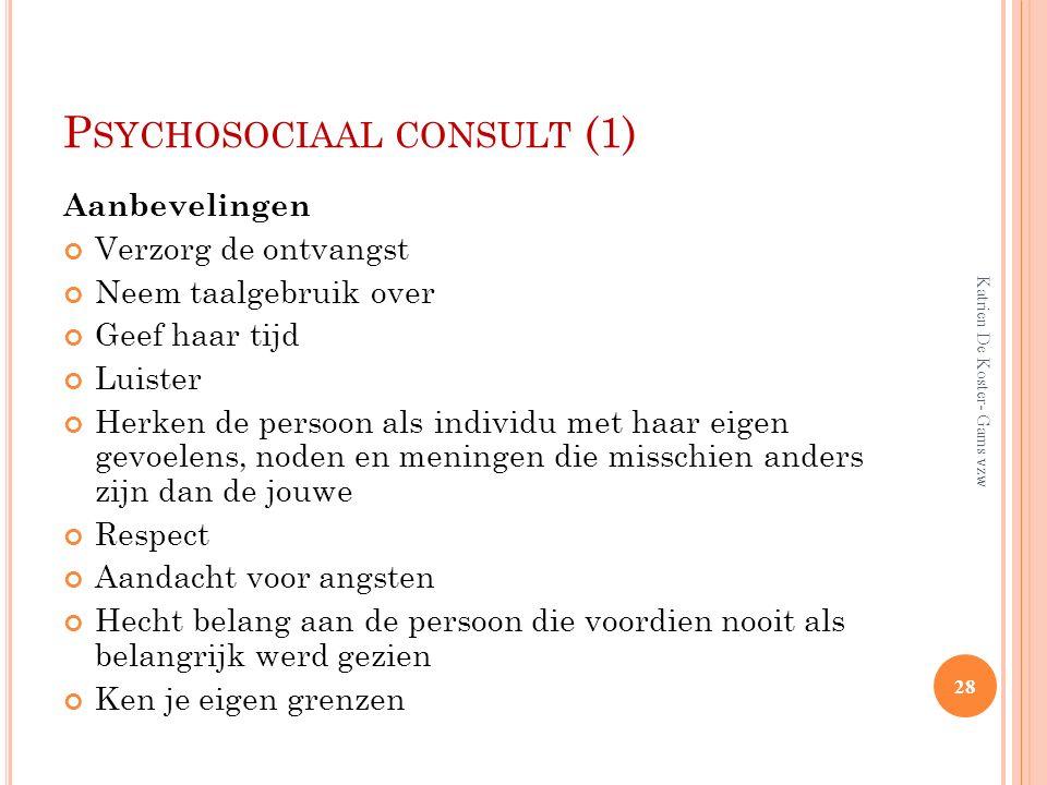Psychosociaal consult (1)