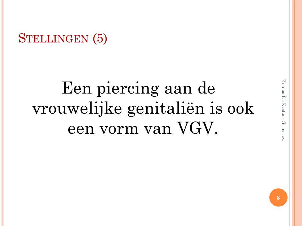 Een piercing aan de vrouwelijke genitaliën is ook een vorm van VGV.