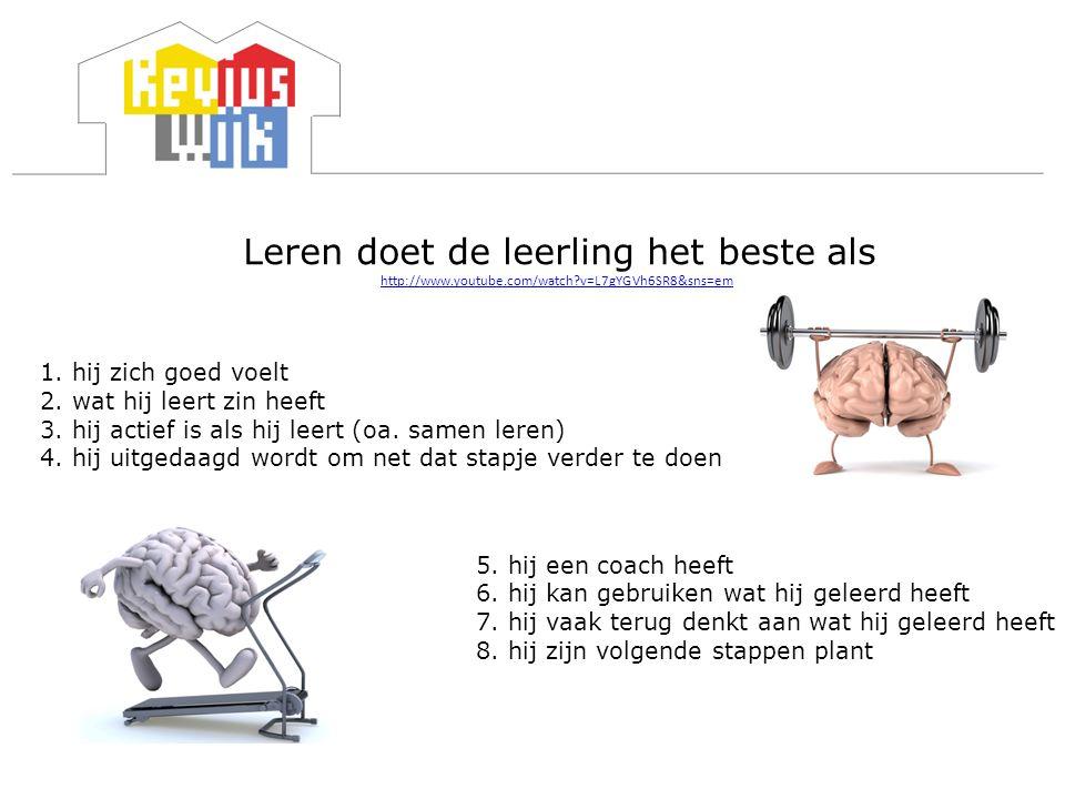 Leren doet de leerling het beste als http://www. youtube. com/watch