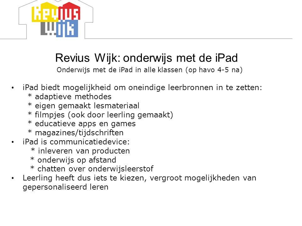 Revius Wijk: onderwijs met de iPad