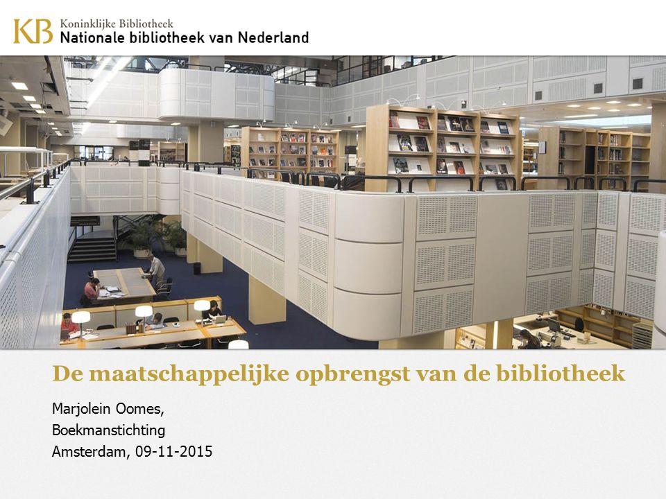 De maatschappelijke opbrengst van de bibliotheek