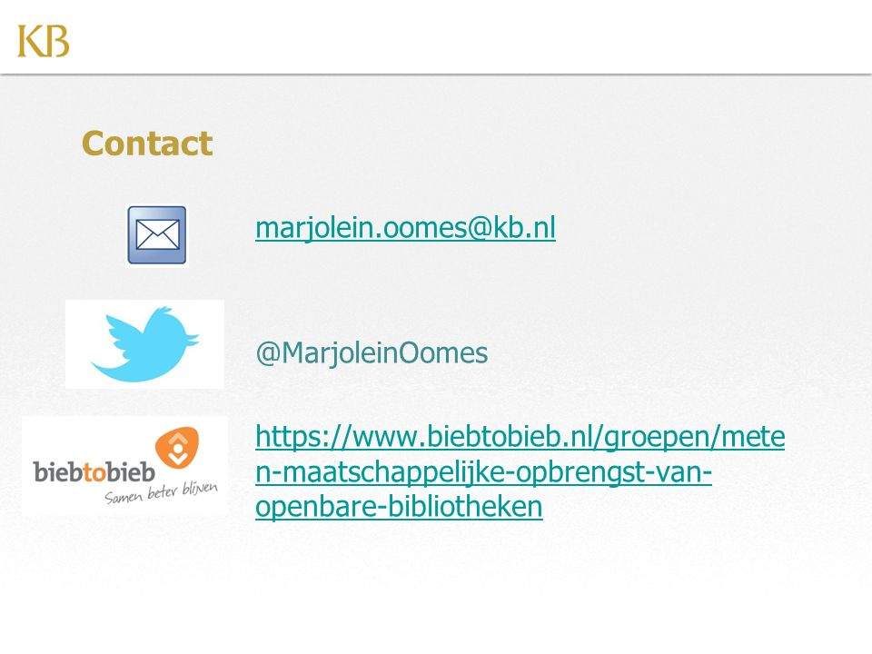 Contact marjolein.oomes@kb.nl @MarjoleinOomes