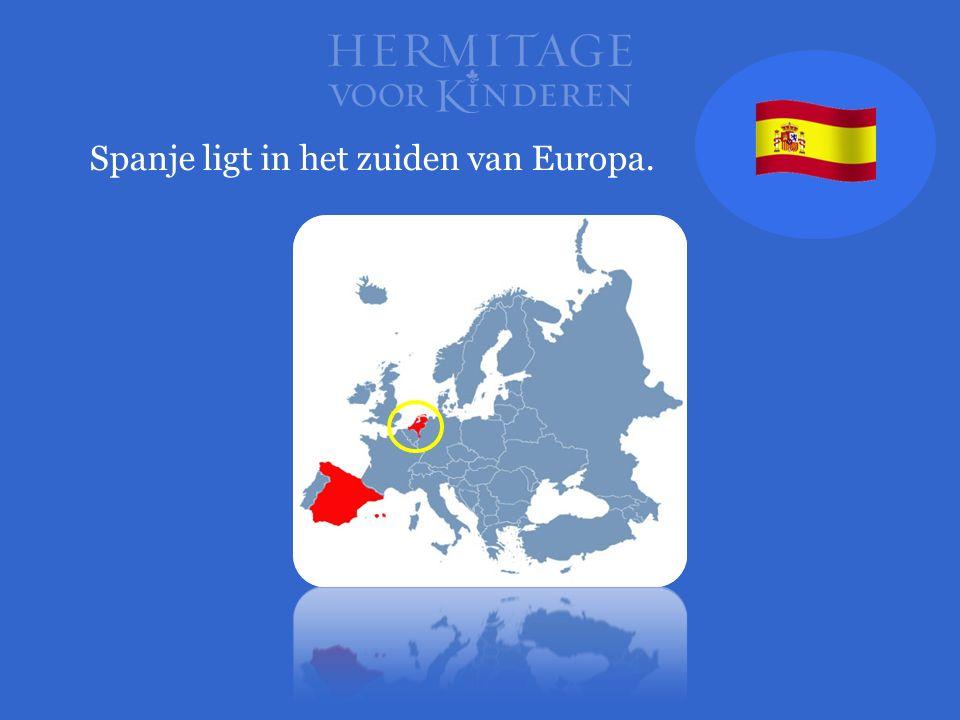 Spanje ligt in het zuiden van Europa.