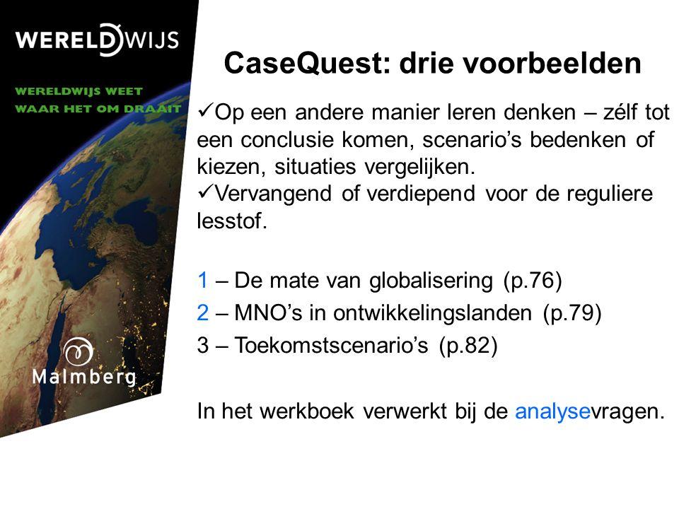 CaseQuest: drie voorbeelden