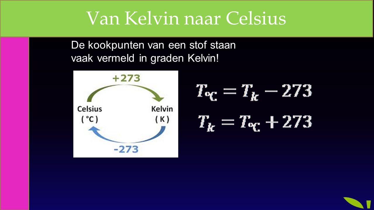 Van Kelvin naar Celsius