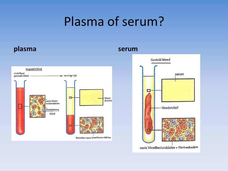 Plasma of serum plasma serum