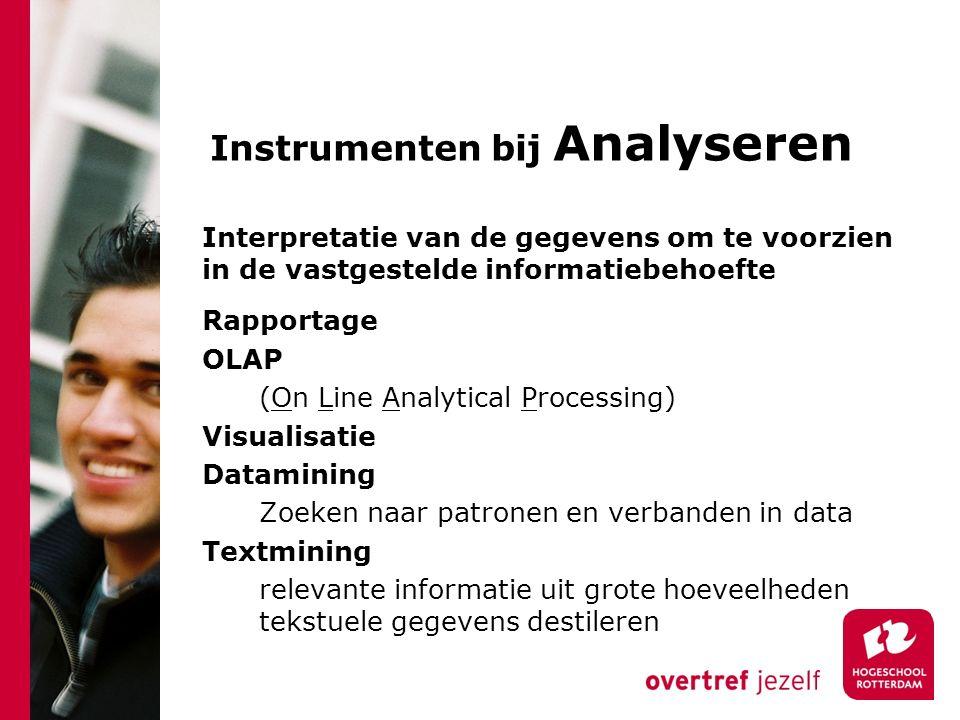 Instrumenten bij Analyseren