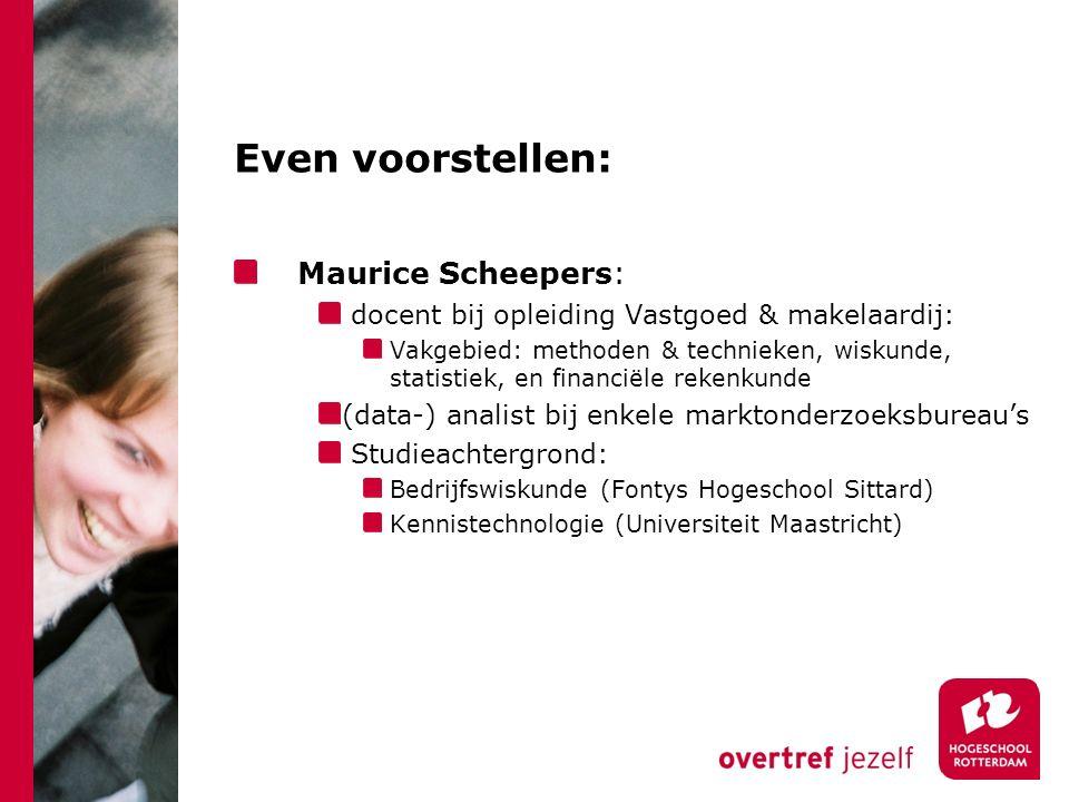 Even voorstellen: Maurice Scheepers: