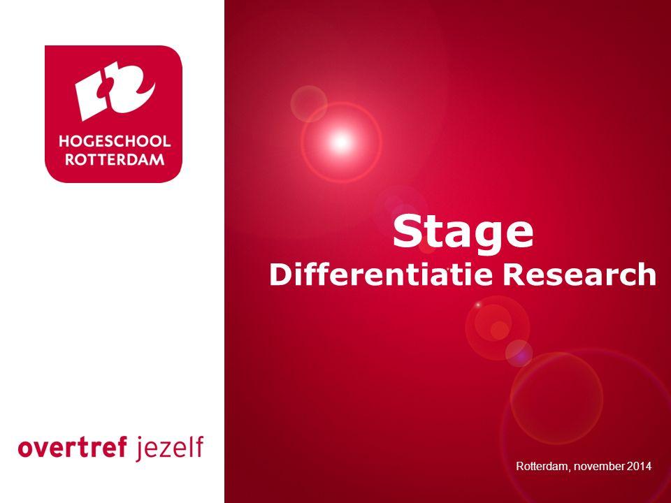 Differentiatie Research