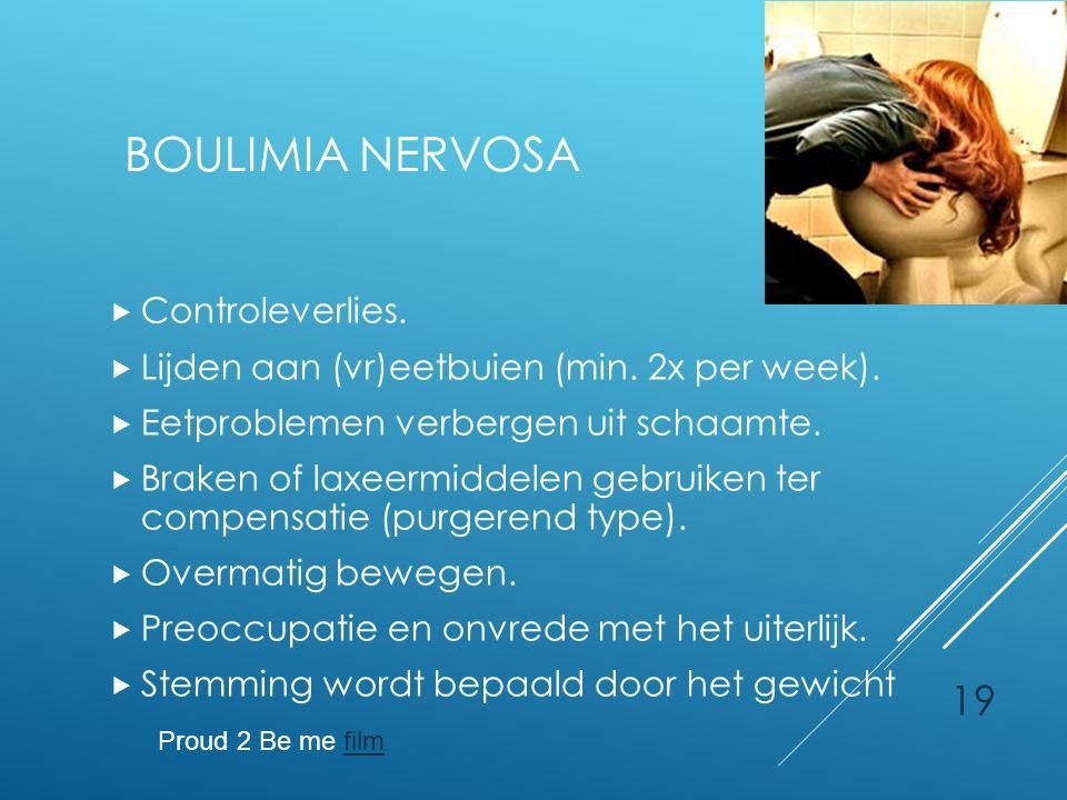 Boulimia Nervosa Controleverlies.