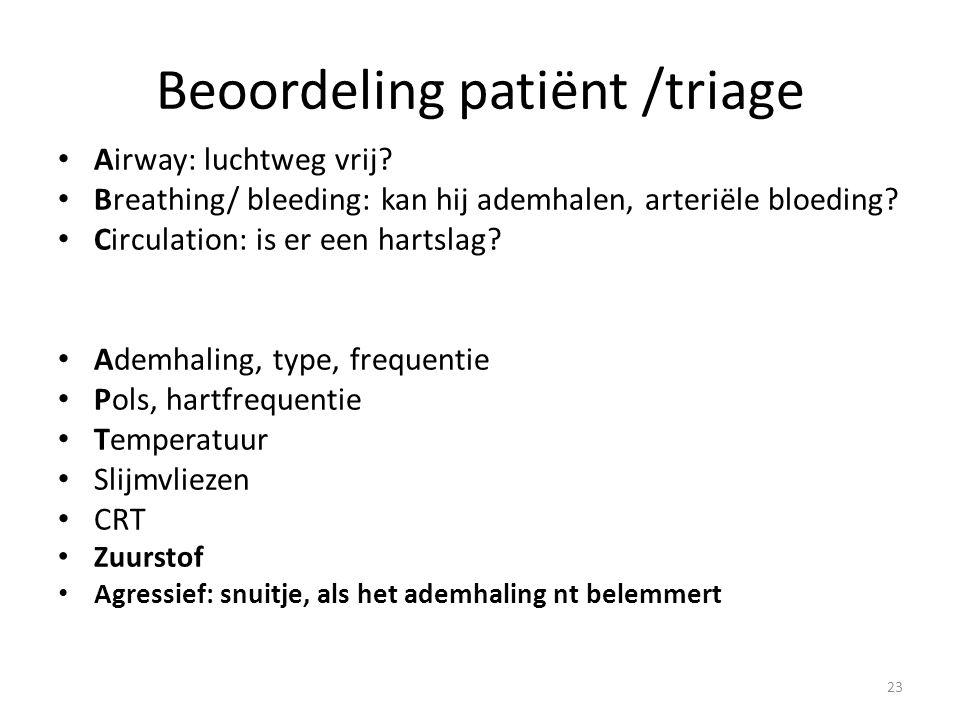 Beoordeling patiënt /triage