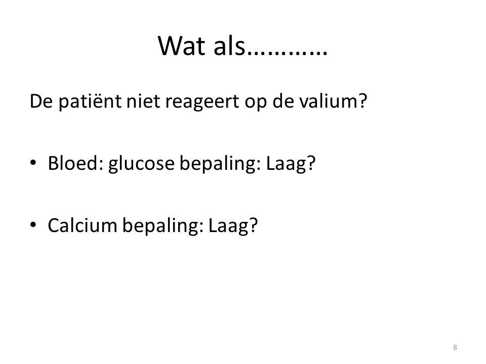 Wat als………… De patiënt niet reageert op de valium