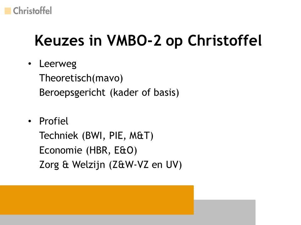 Keuzes in VMBO-2 op Christoffel