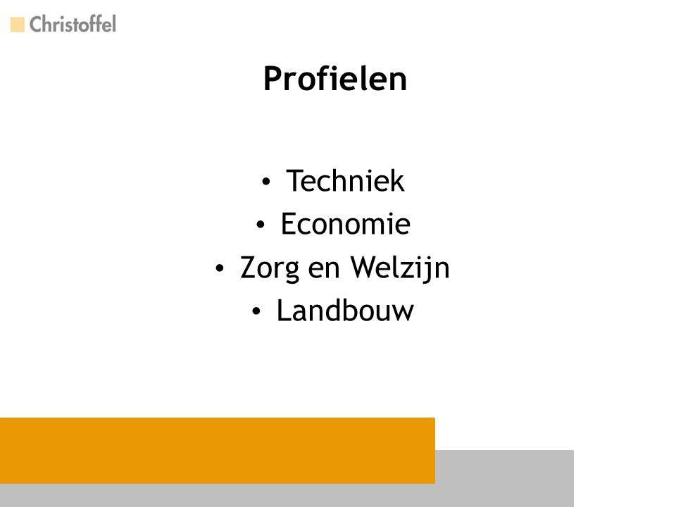 Profielen Techniek Economie Zorg en Welzijn Landbouw