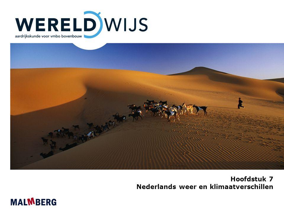 Hoofdstuk 7 Nederlands weer en klimaatverschillen