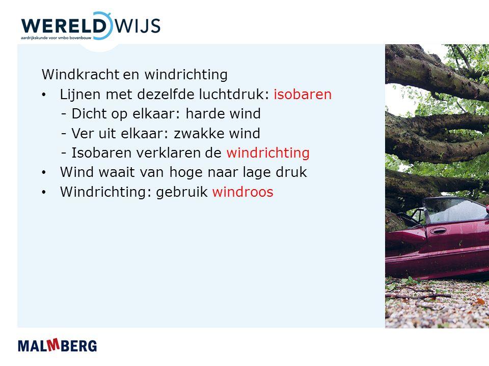 Windkracht en windrichting