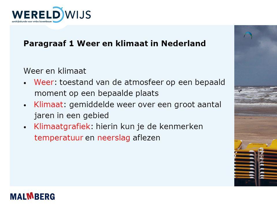 Paragraaf 1 Weer en klimaat in Nederland