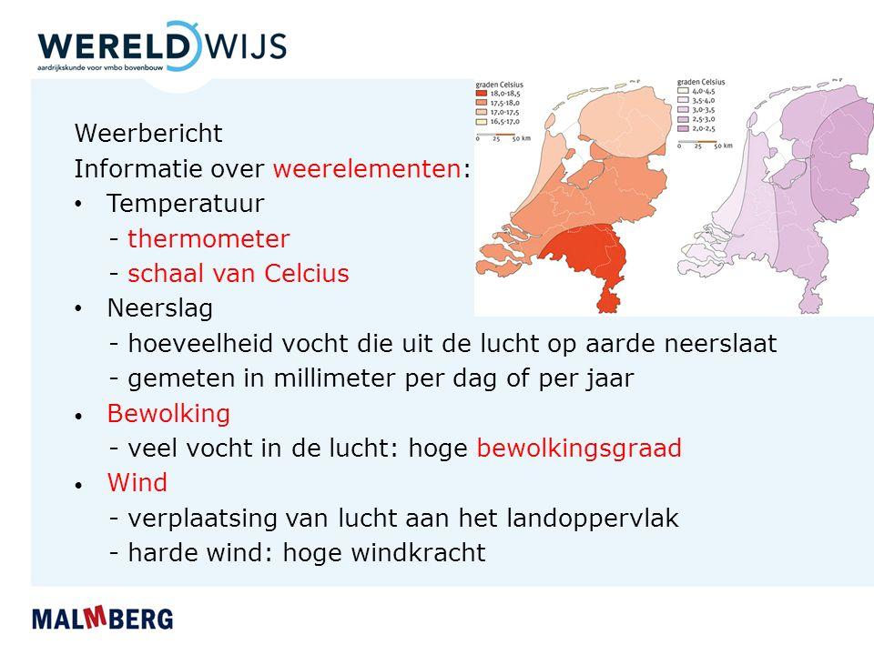 Informatie over weerelementen: Temperatuur - thermometer