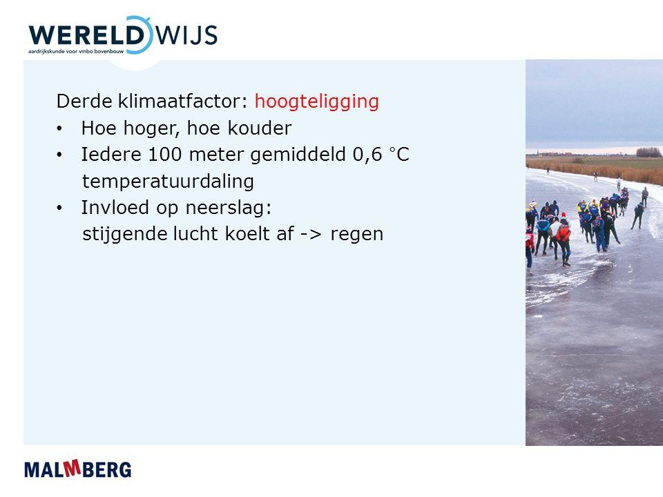 Derde klimaatfactor: hoogteligging