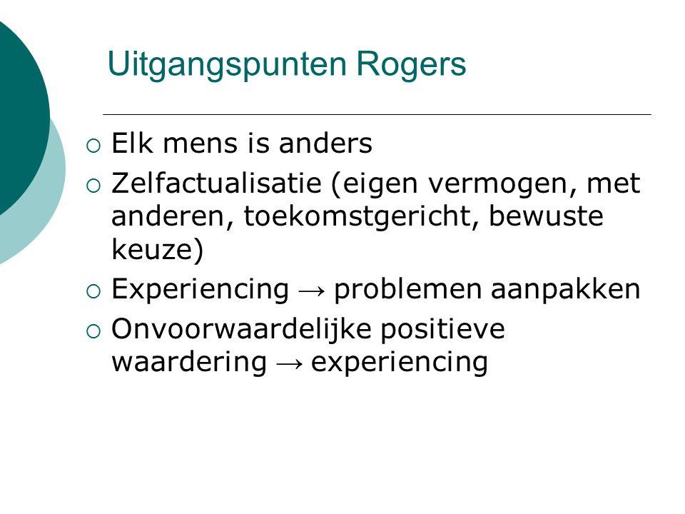 Uitgangspunten Rogers