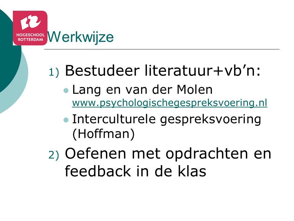 Bestudeer literatuur+vb'n: