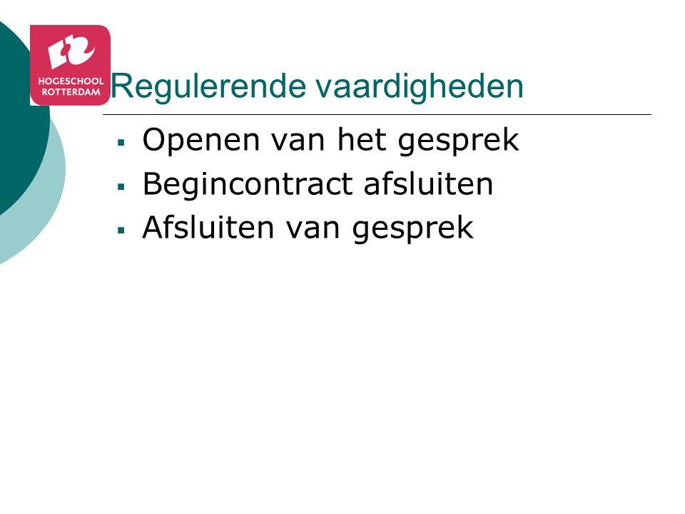 Regulerende vaardigheden