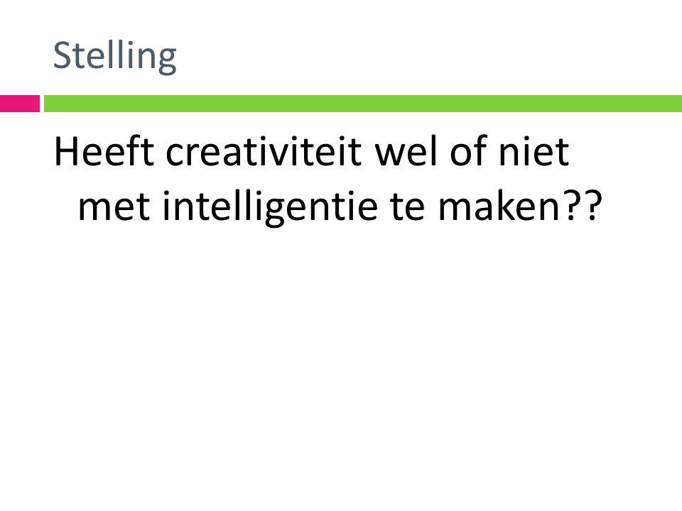 Heeft creativiteit wel of niet met intelligentie te maken