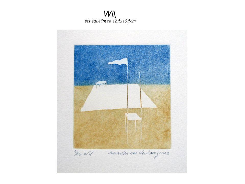 Wil, ets aquatint ca 12,5x16,5cm