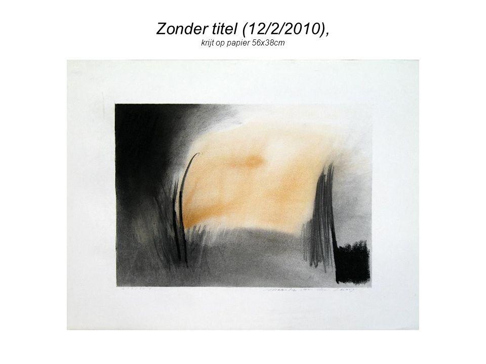 Zonder titel (12/2/2010), krijt op papier 56x38cm