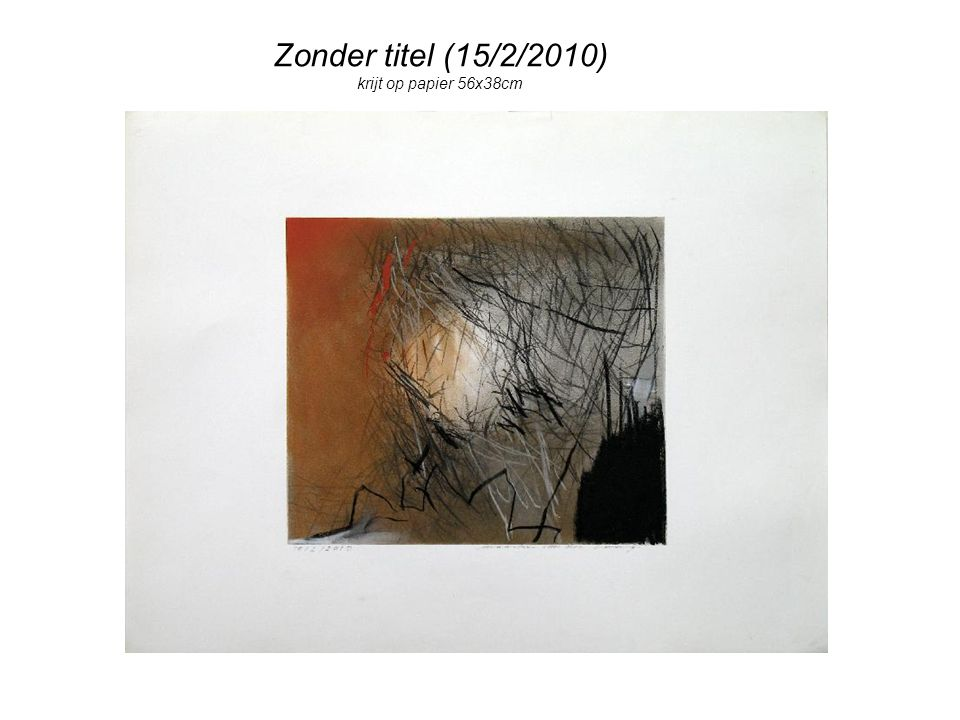 Zonder titel (15/2/2010) krijt op papier 56x38cm