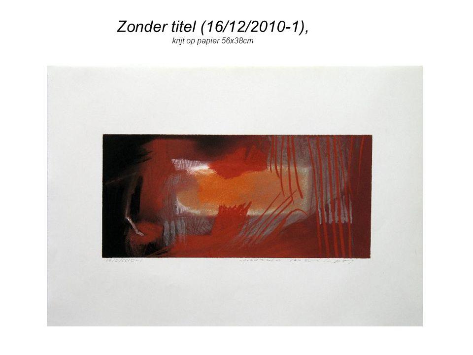 Zonder titel (16/12/2010-1), krijt op papier 56x38cm