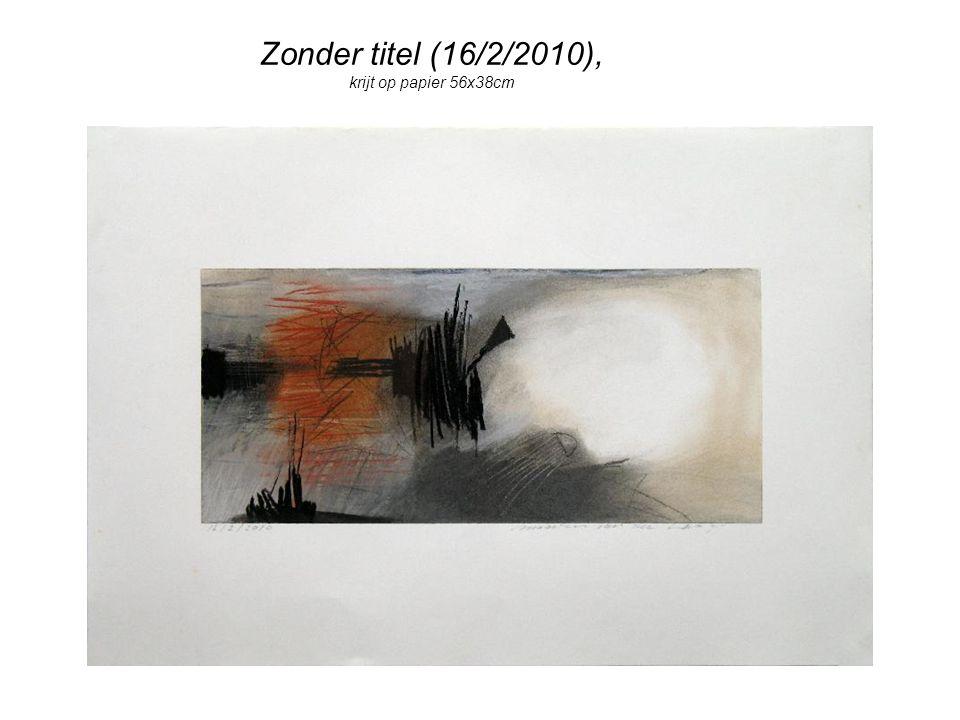 Zonder titel (16/2/2010), krijt op papier 56x38cm
