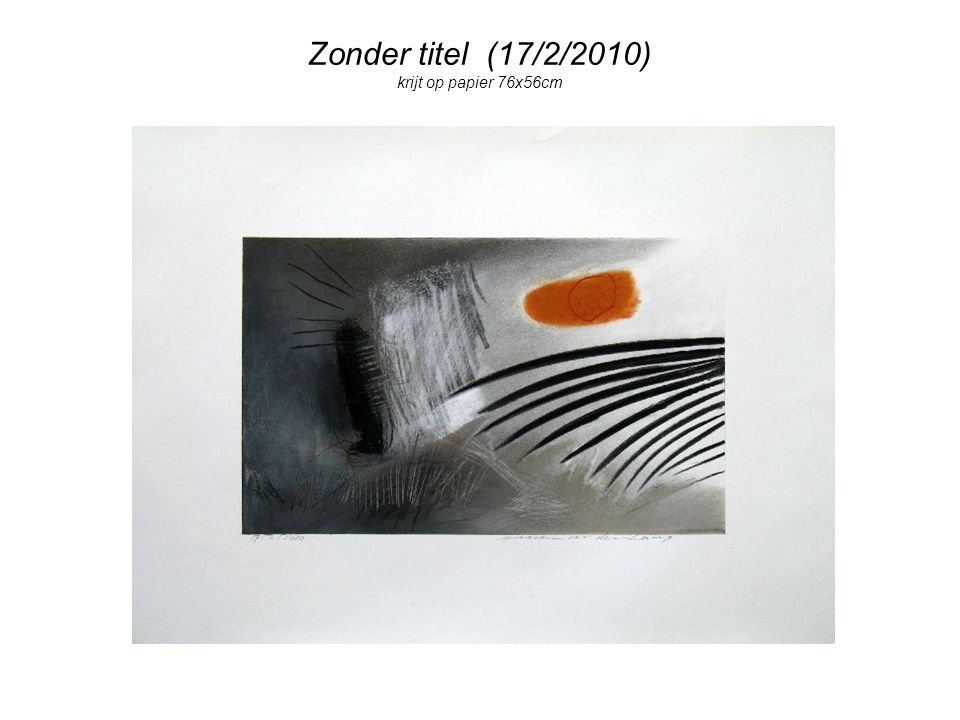 Zonder titel (17/2/2010) krijt op papier 76x56cm