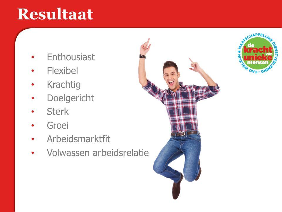 Resultaat Enthousiast Flexibel Krachtig Doelgericht Sterk Groei