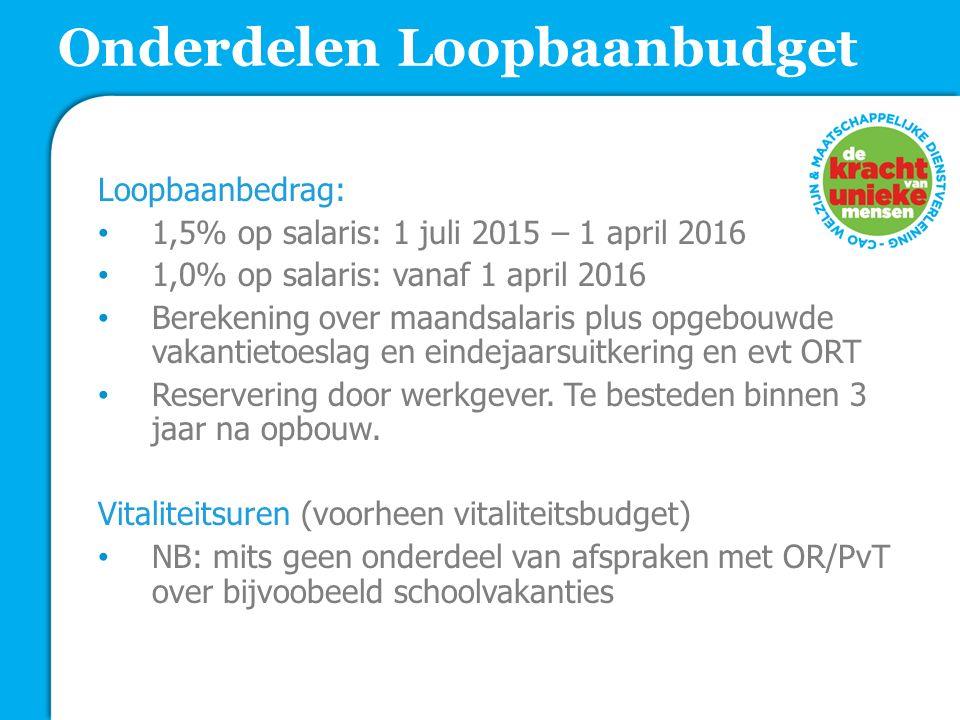 Onderdelen Loopbaanbudget
