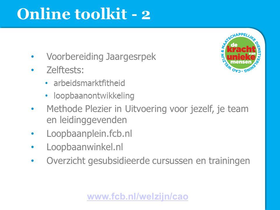 Online toolkit - 2 Voorbereiding Jaargesrpek Zelftests: