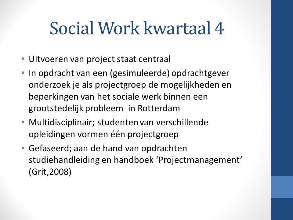 Social Work kwartaal 4 Uitvoeren van project staat centraal