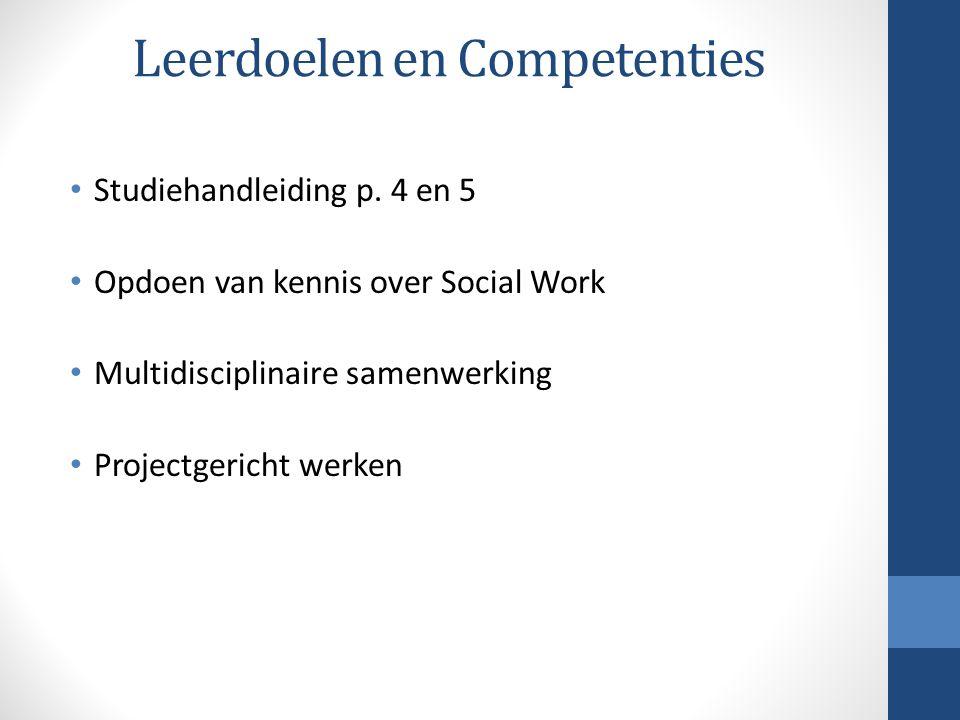 Leerdoelen en Competenties